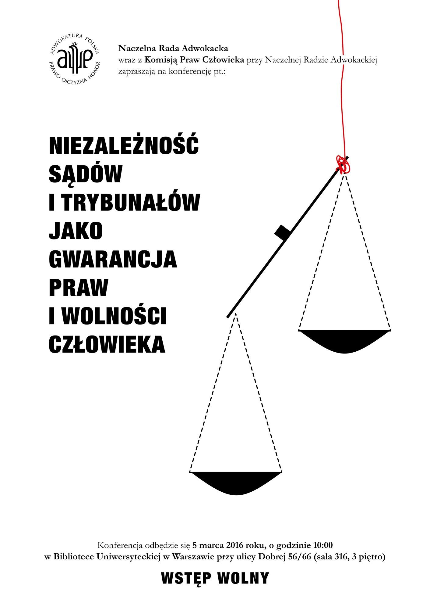 Niezależność Sądów I Trybunałów Tematem Konferencji Nra